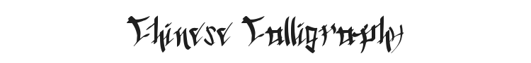 Chinese Calligraphy Font Preview