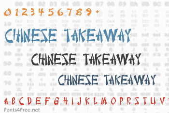 Chinese Takeaway Font