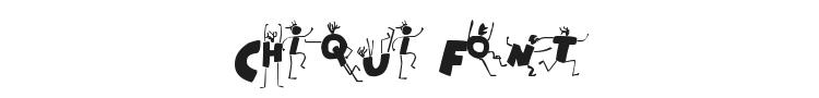 Chiqui Font Preview