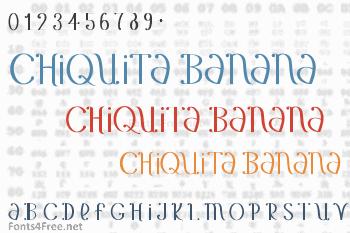 Chiquita Banana Font