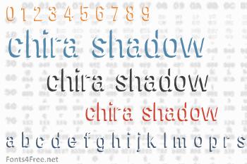 Chira Shadow Font