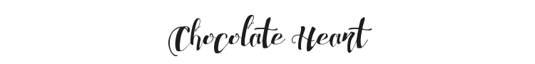 Chocolate Heart Font Preview