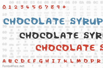 Chocolate Syrup Font