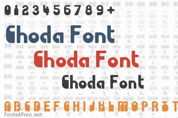 Choda Font