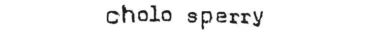 Cholo Sperry Rand R20 Font Preview