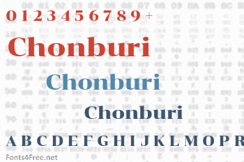Chonburi Font
