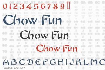 Chow Fun Font