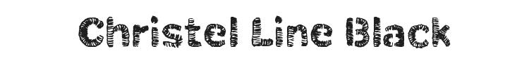 Christel Line Black Font