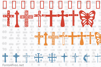 Christian Crosses Font