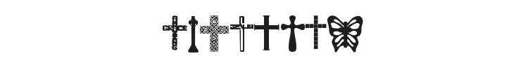 Christian Crosses Font Preview