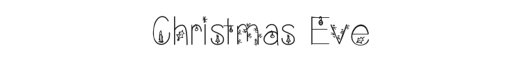 Christmas Eve Font Preview