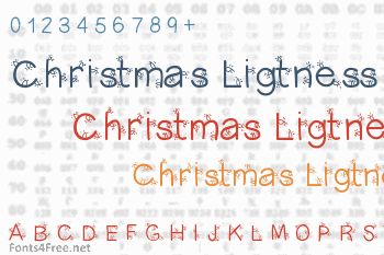Christmas Ligtness Font