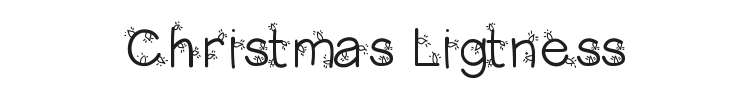 Christmas Ligtness Font Preview