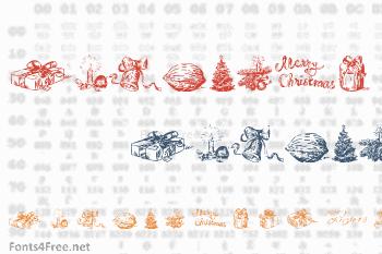 Christmas Nativity Font
