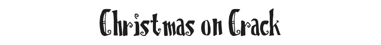 Christmas on Crack Font