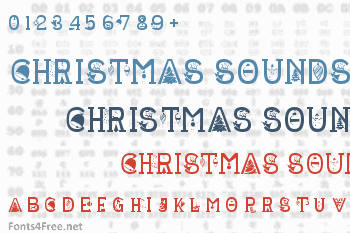 Christmas Sounds Font