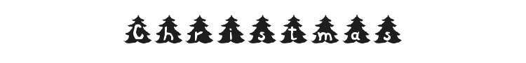 Christmas Tree Font Preview