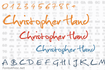 Christopher Hand Font