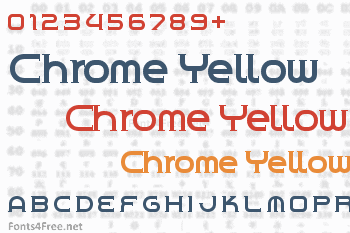Chrome Yellow Font
