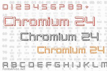 Chromium 24 Font