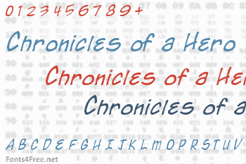 Chronicles of a Hero Font