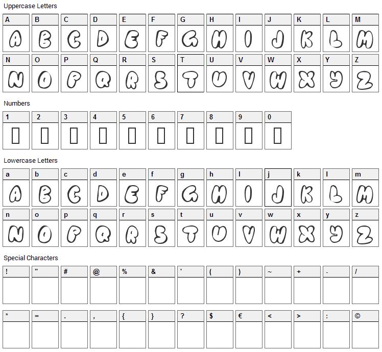 Chubb Font Character Map