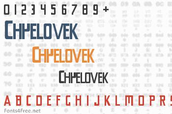 Chyelovek Font
