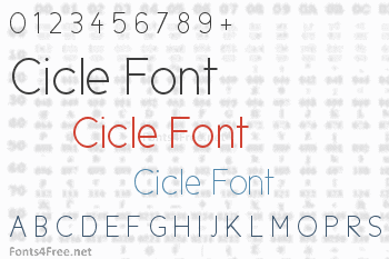 Cicle Font