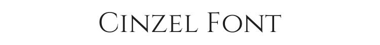 Cinzel Font Preview