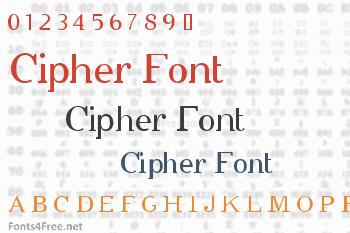 Cipher Font