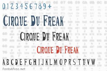 Cirque Du Freak Font