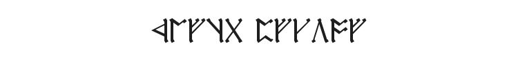 Cirth Erebor Font Preview