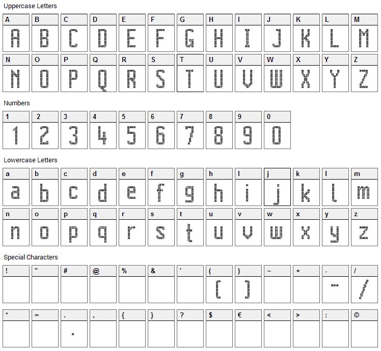 Citaro Voor Dubbele Hoogte Midden/Dubbel Font Character Map