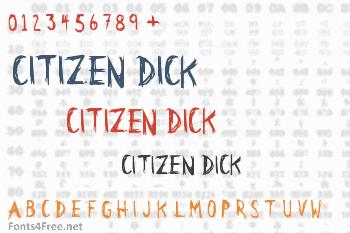 Citizen Dick Font