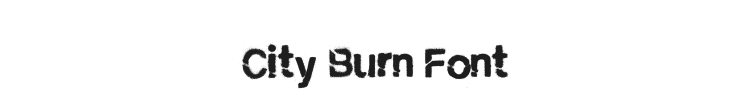City Burn Font