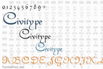 Civitype Font