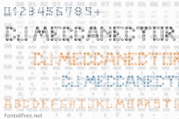 CJ Meccanector Font