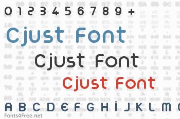 Cjust Font
