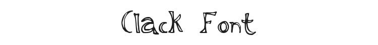Clack Font Preview