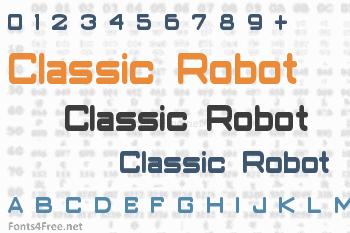 Classic Robot Font