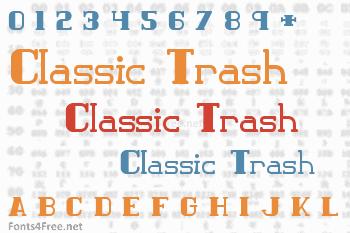 Classic Trash Font