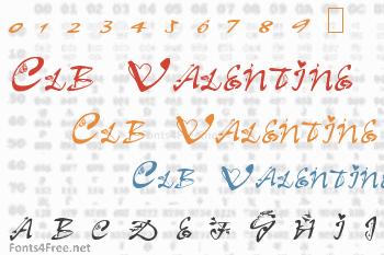 Clb Valentine Font