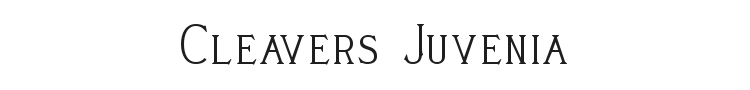 Cleavers Juvenia Font