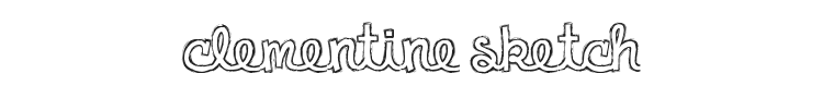 Clementine Sketch Font Preview