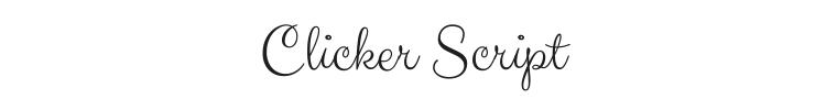 Clicker Script Font