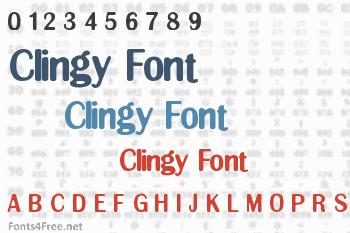 Clingy Font