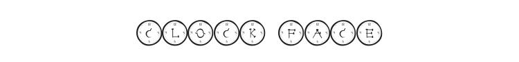 Clock Face Font