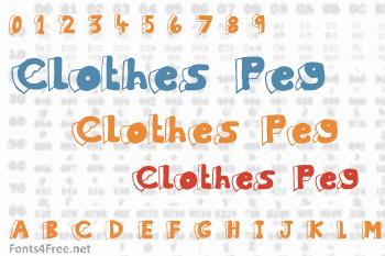 Clothes Peg Font