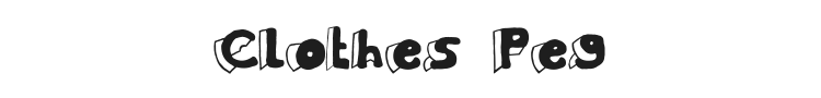 Clothes Peg Font Preview