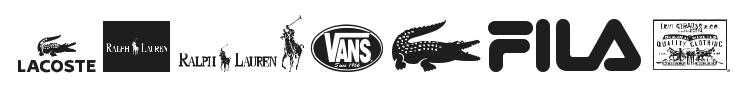 Clothing Logos Font